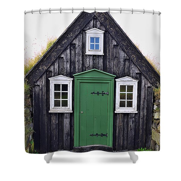 Icelandic Old House Shower Curtain
