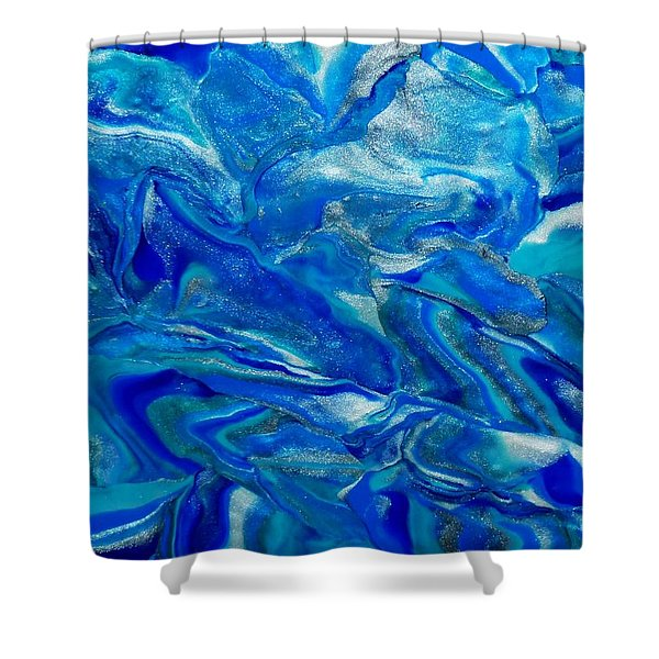 Icy Blue Shower Curtain