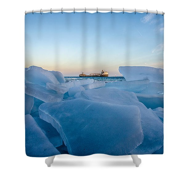 Icy Passage Shower Curtain