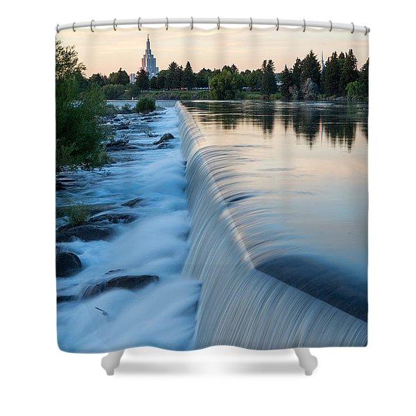 Idaho Falls Sunset Shower Curtain