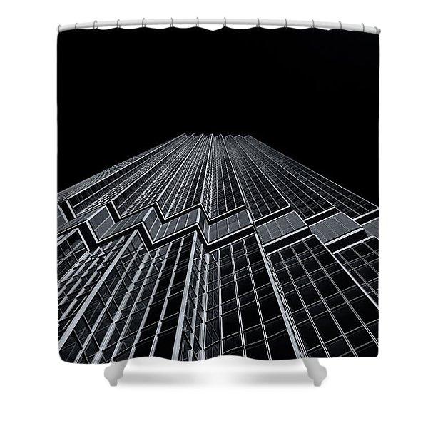 Ids Tower Minneapolis  Mono Shower Curtain