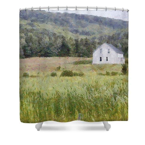 Idyllic Isolation Shower Curtain