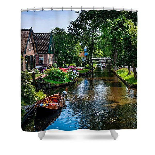 Idyllic Village 15. Venice Of The North Shower Curtain