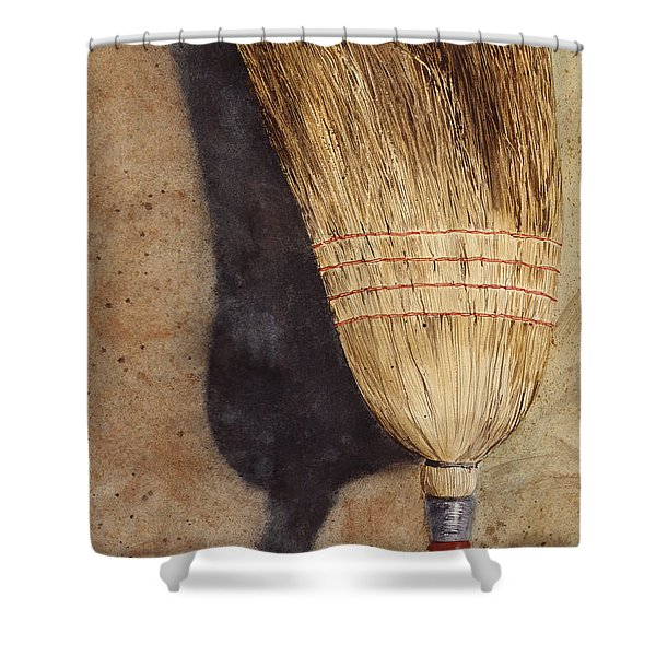 Ila Jean's Broom Shower Curtain