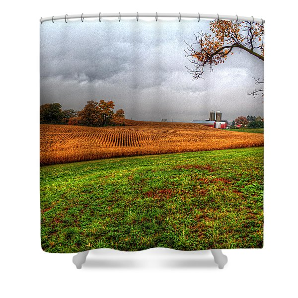 Illinois Farmland I Shower Curtain