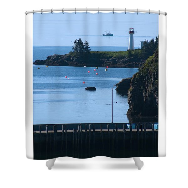 Illusion At Beaver Harbour Light Shower Curtain