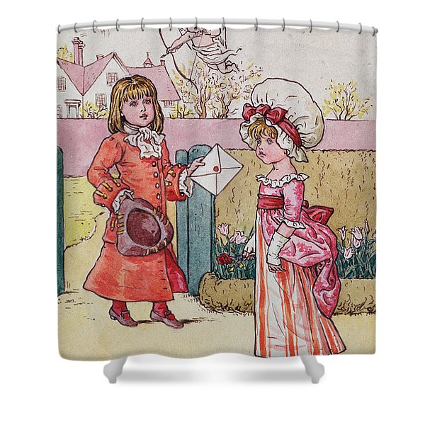 Illustration For Saint Valentines Day  Shower Curtain