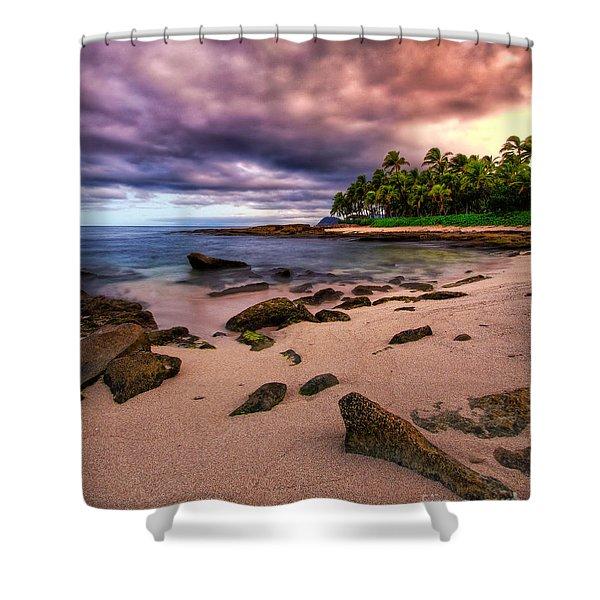 Iluminated Beach Shower Curtain