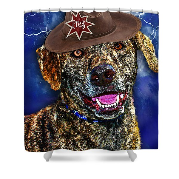 I'm A Canine Community Reporter Shower Curtain