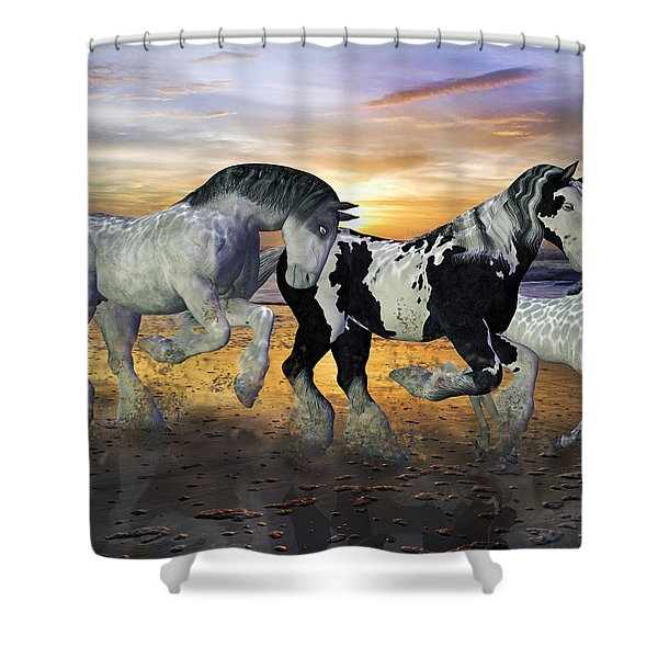 Imagination On The Run Shower Curtain