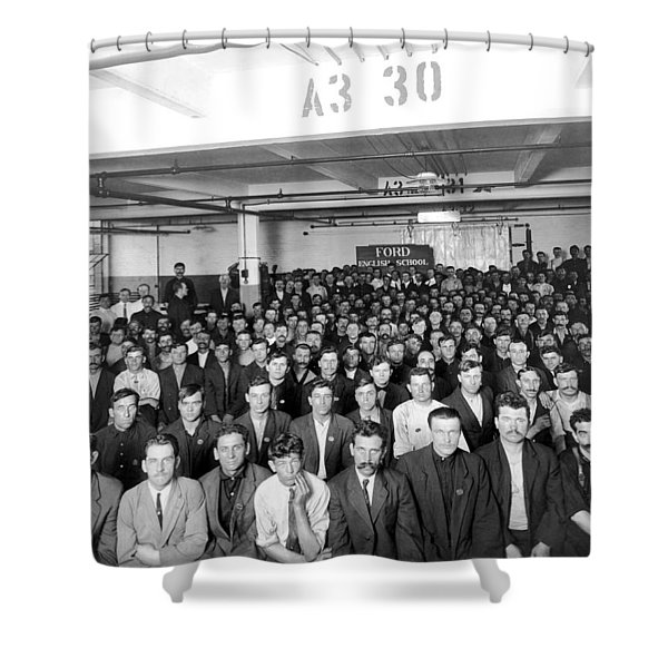 Immigrants Working At Ford Shower Curtain