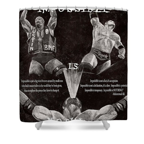 Impossible Is Nothing Shower Curtain