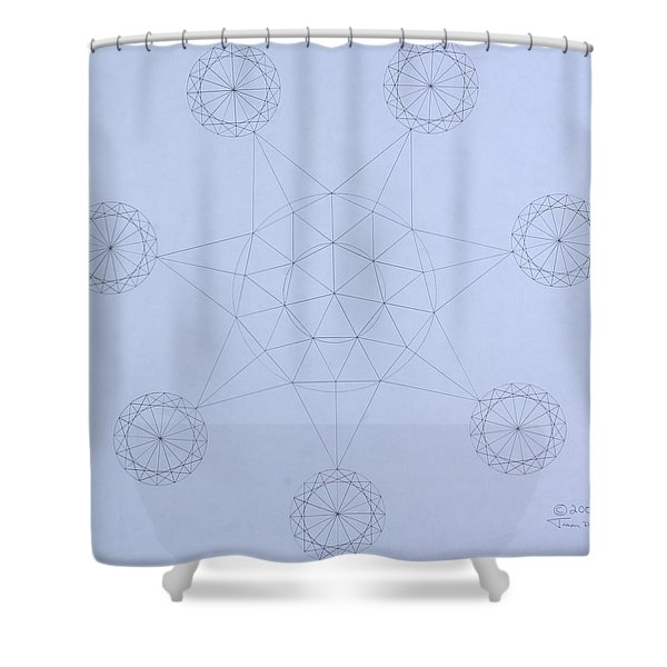 Impossible Parallels Shower Curtain