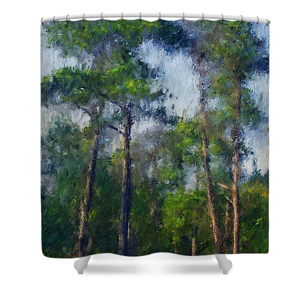 Impression Trees Shower Curtain