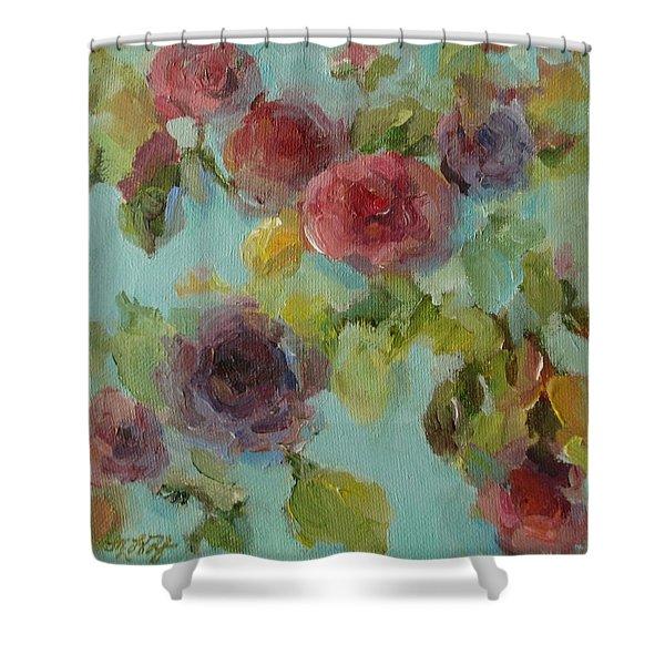 Impressionist Floral  Shower Curtain