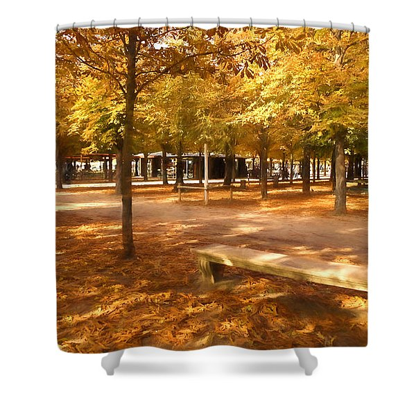 Impressions Of Paris - Tuileries Garden - Come Sit A Spell Shower Curtain