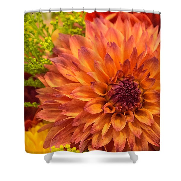 In A Bouquet Shower Curtain