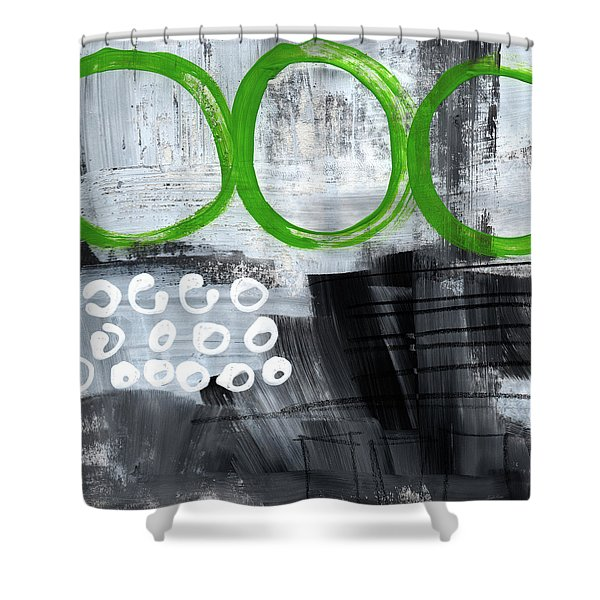 In Circles- Abstract Painting Shower Curtain