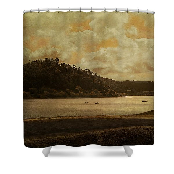 In Dreams I Float Shower Curtain