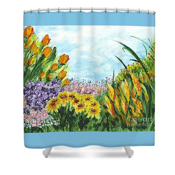 In My Garden Shower Curtain