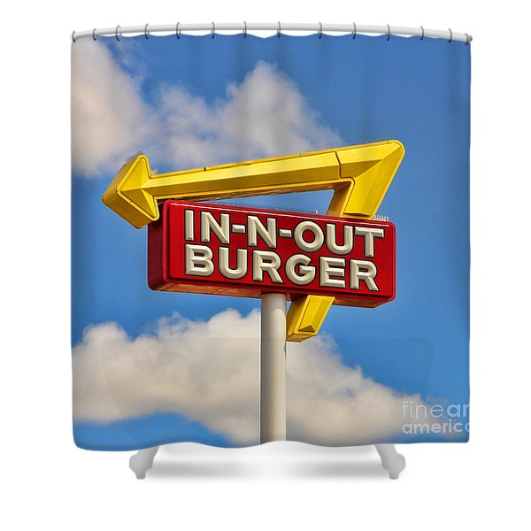In N Out Burger  6946 Shower Curtain