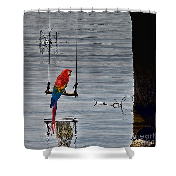 In Reflective Mood Shower Curtain
