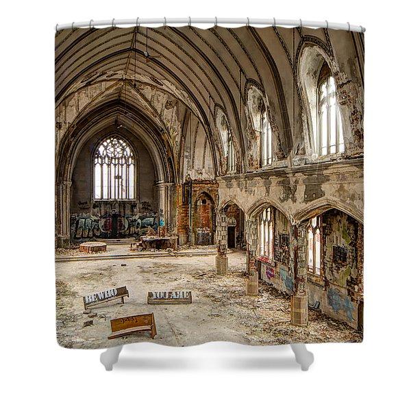 Faith In Ruins Shower Curtain