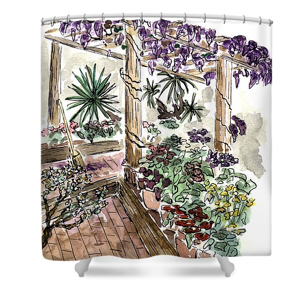 In The Greenhouse Shower Curtain