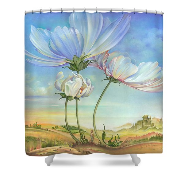 In The Half-shadow Of Wild Flowers Shower Curtain