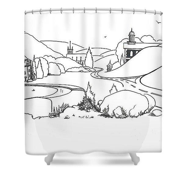 In The Land Of Brigadoon  Shower Curtain