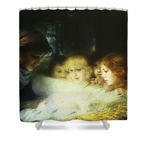 In The Manger Shower Curtain