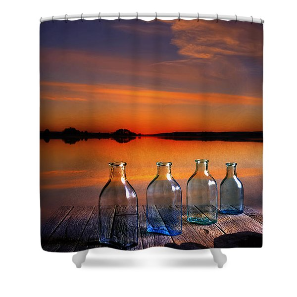 In The Morning At 4.33 Shower Curtain