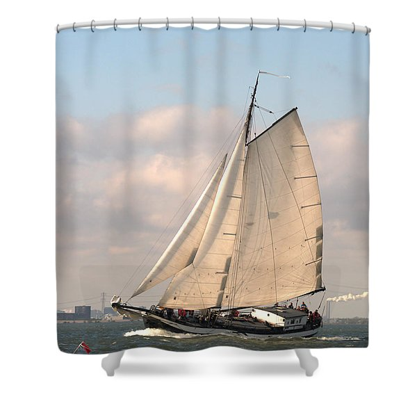 In The Race Shower Curtain