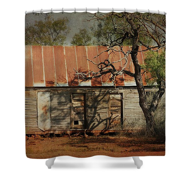 In The Shadow Of Time Shower Curtain
