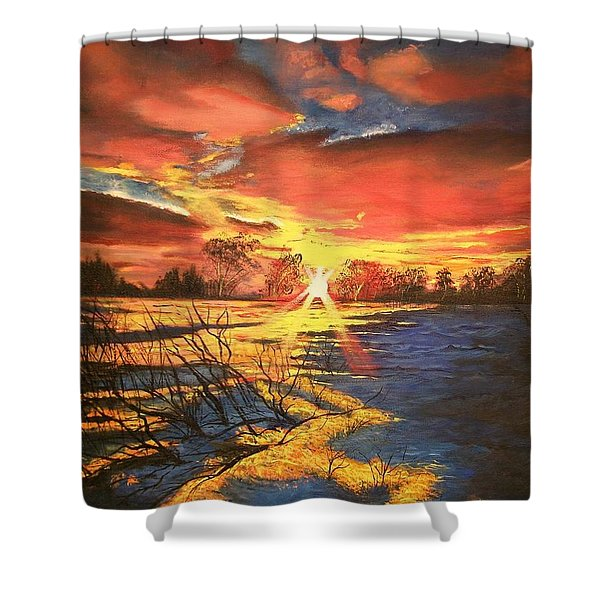 In The Still Of Dawn-2 Shower Curtain