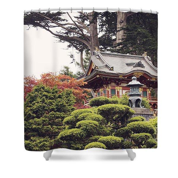 In The Tea Garden Shower Curtain