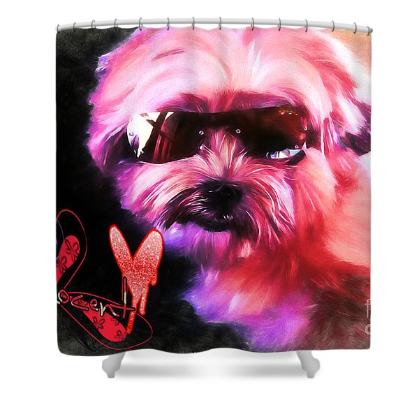 Incognito Innocence Shower Curtain