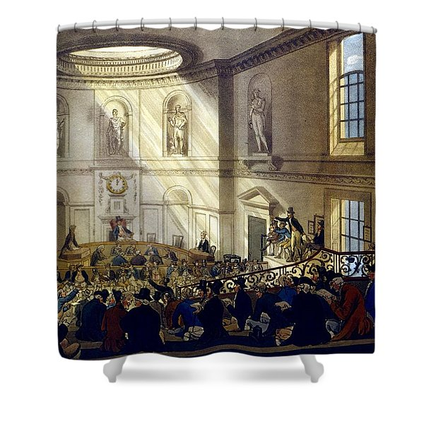 India House, The Sale Room Shower Curtain