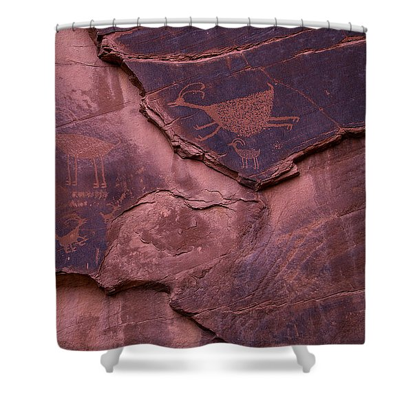 Indian Cave Art Shower Curtain