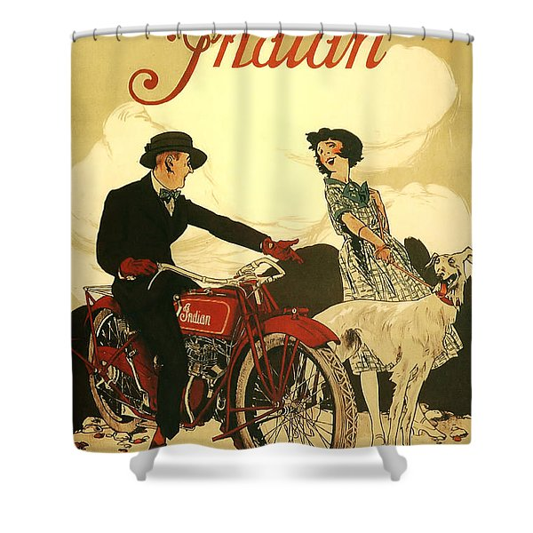 Indian Motorcycle Poster Shower Curtain