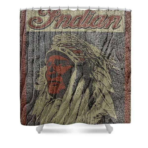 Indian Motorcycle Postertextured Shower Curtain