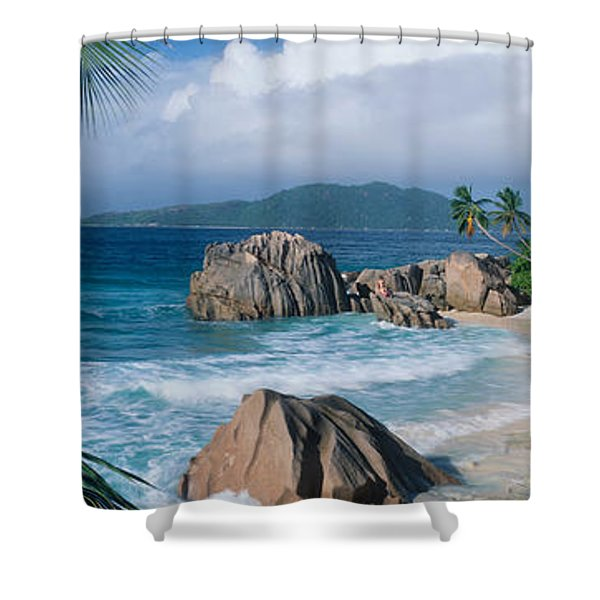 Indian Ocean La Digue Island Seychelles Shower Curtain