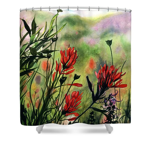 Indian Paint Brush Shower Curtain