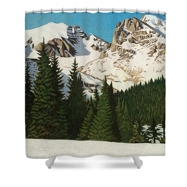 Indian Peaks Winter Shower Curtain