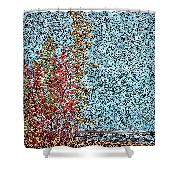 Indian Point - May 2014 Shower Curtain