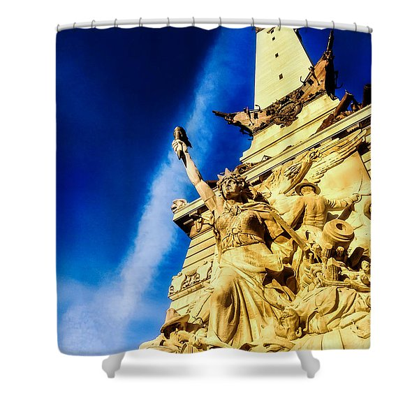 Indiana Civil War Monument Shower Curtain