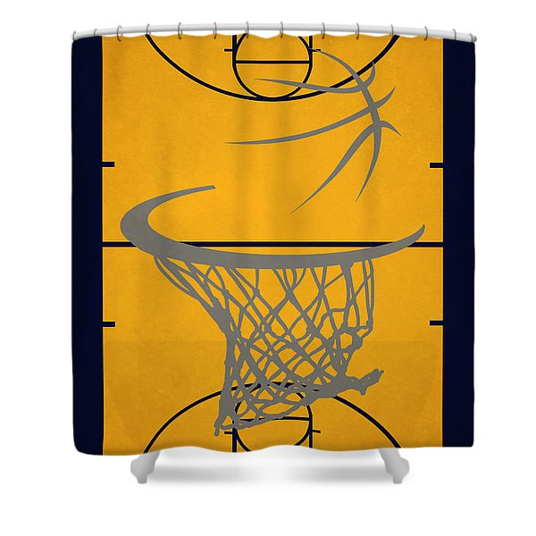 Indiana Pacers Court Shower Curtain