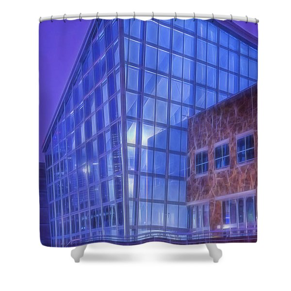 Indiana State Museum Indianapolis Indiana Glowing Shower Curtain