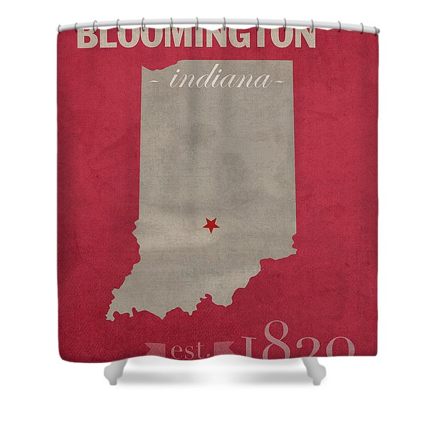 Indiana University Hoosiers Bloomington College Town State Map Poster Series No 048 Shower Curtain