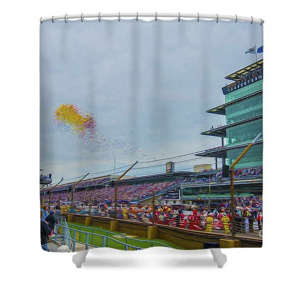 Indianapolis 500 May 2013 Balloons Race Start Shower Curtain